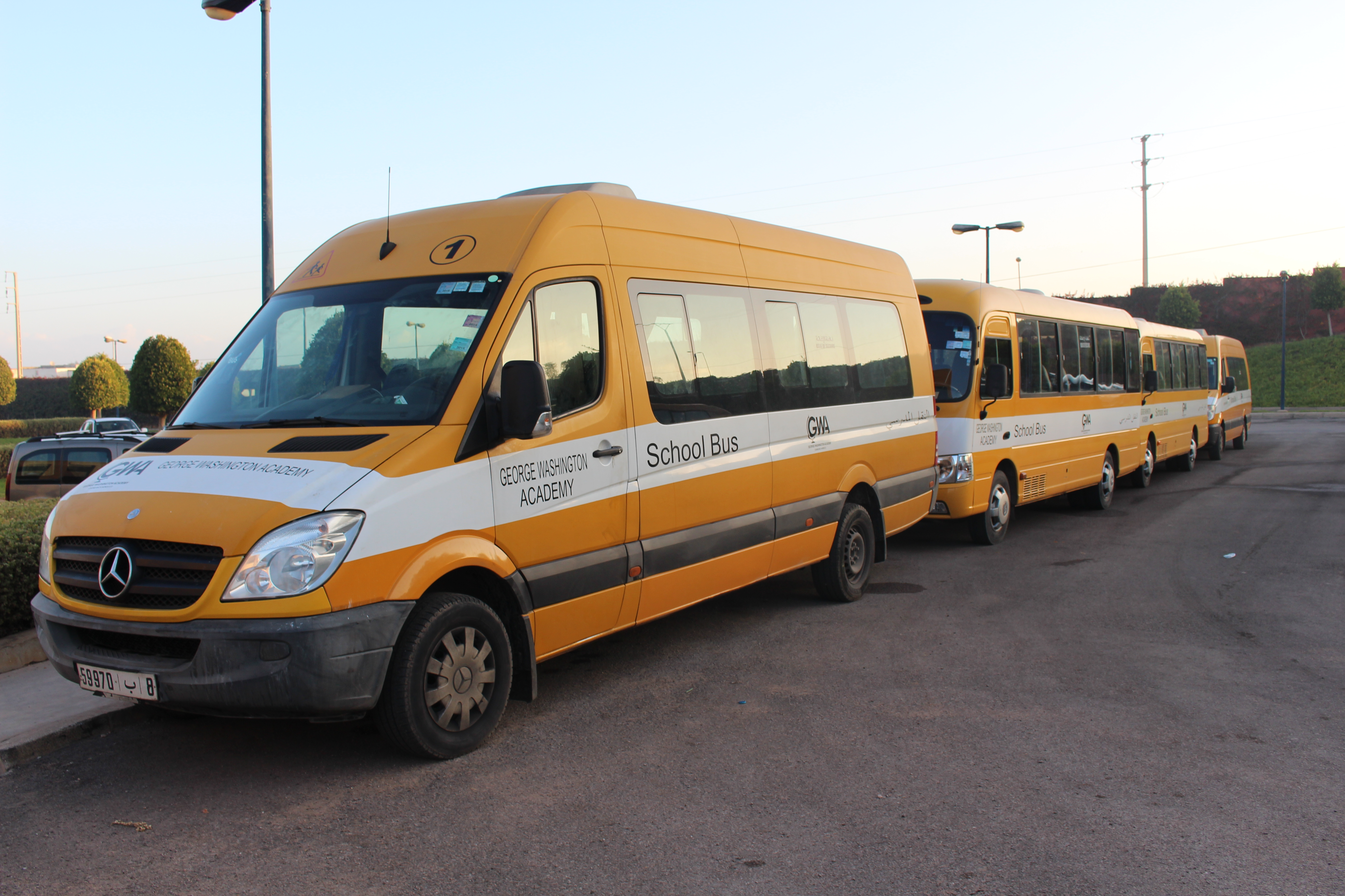george washington academy school buses