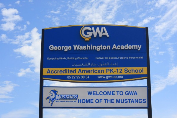 george washington academy sign
